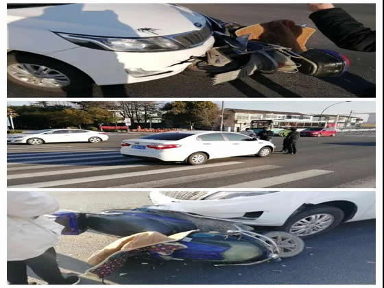 这些事故中,电动自行车全责!